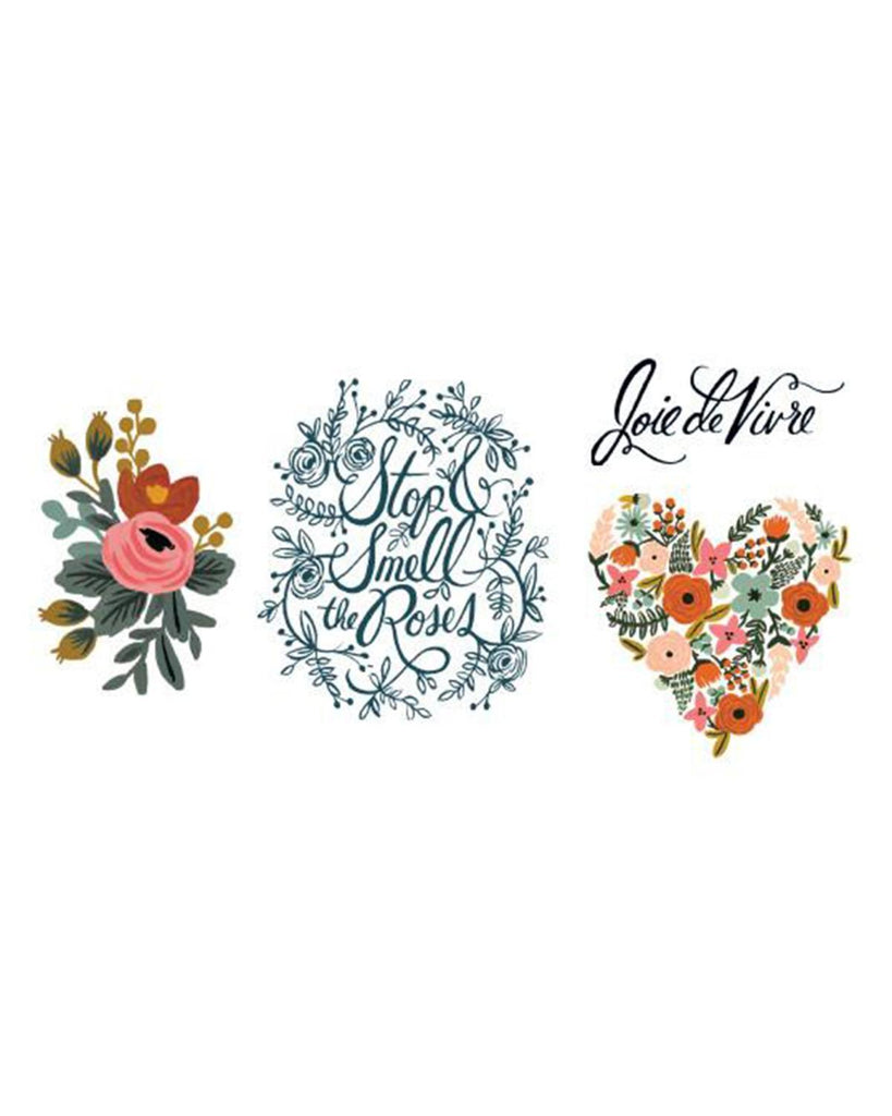 Little tattly paper+party Floral Set Tattoos