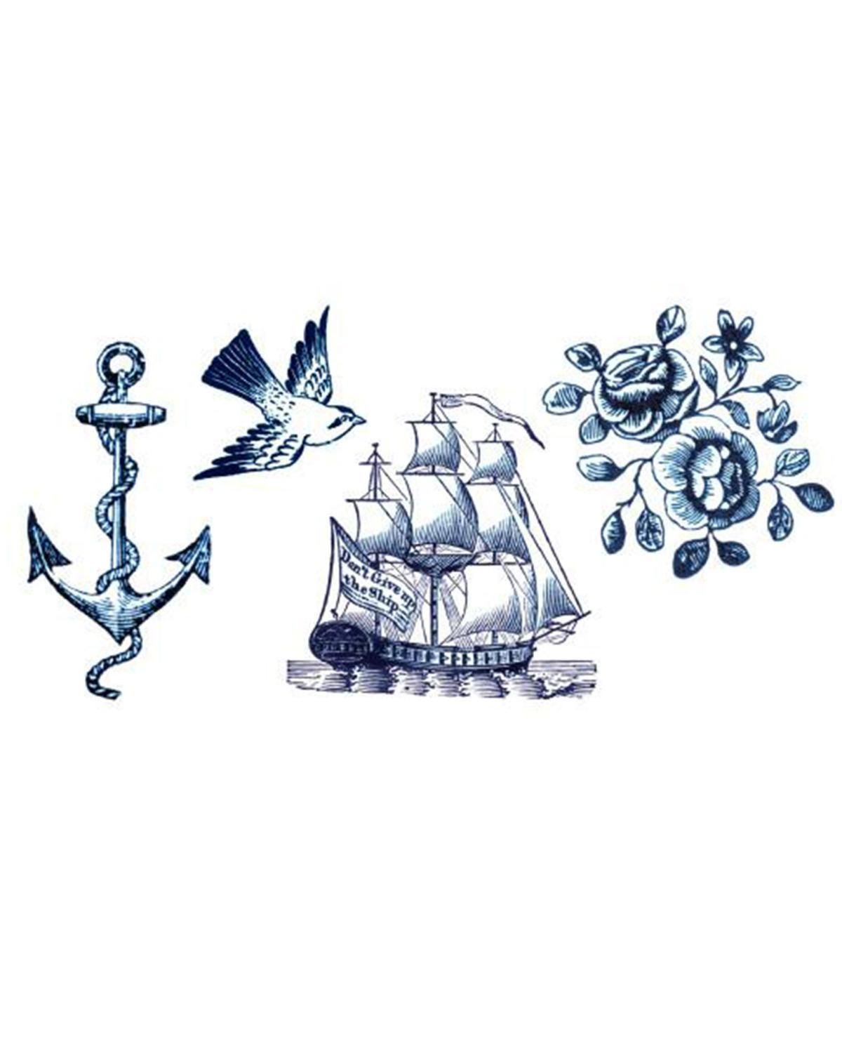 Little tattly paper+party nautical tattoo set