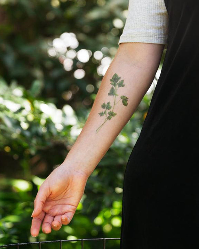 Little tattly paper+party parsley scented tattoo