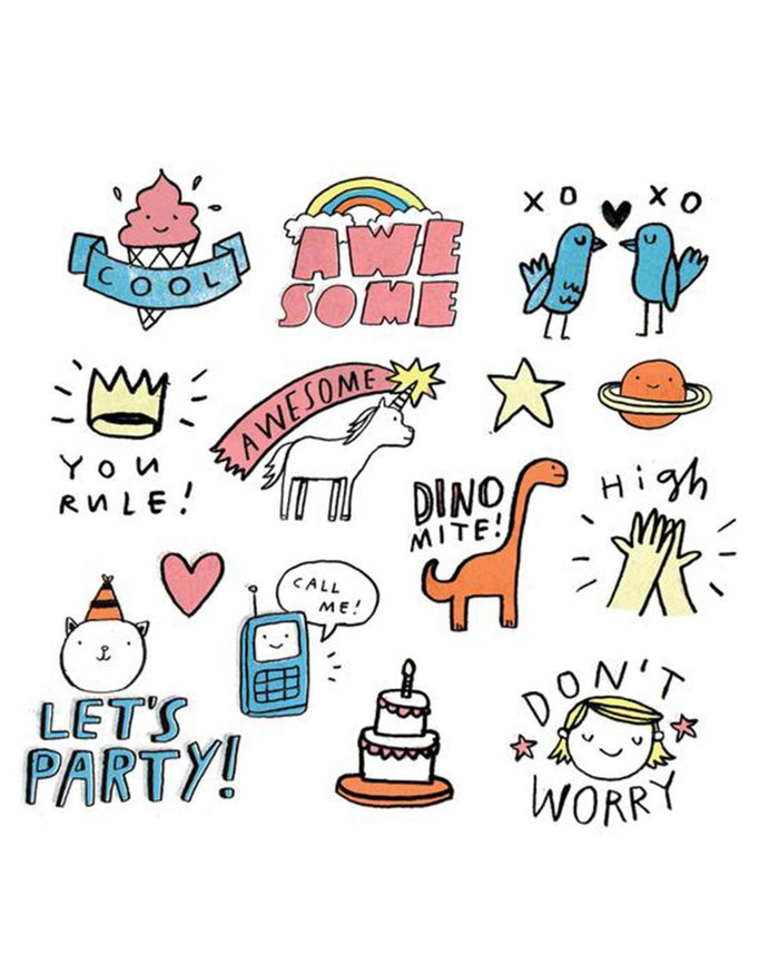 Little tattly paper+party Party Pals Tattoos