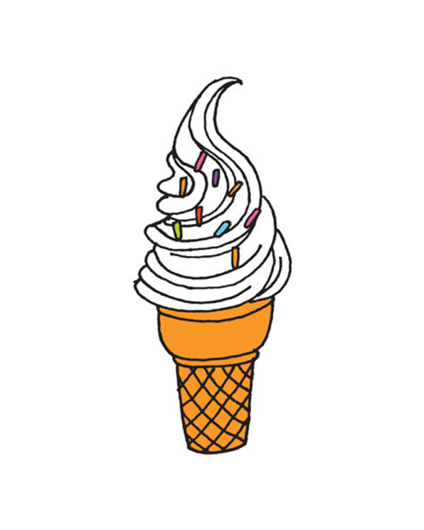 Little tattly paper+party Soft Serve