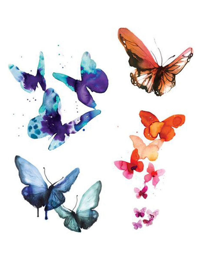 Little tattly paper+party Watercolor Butterfly Set