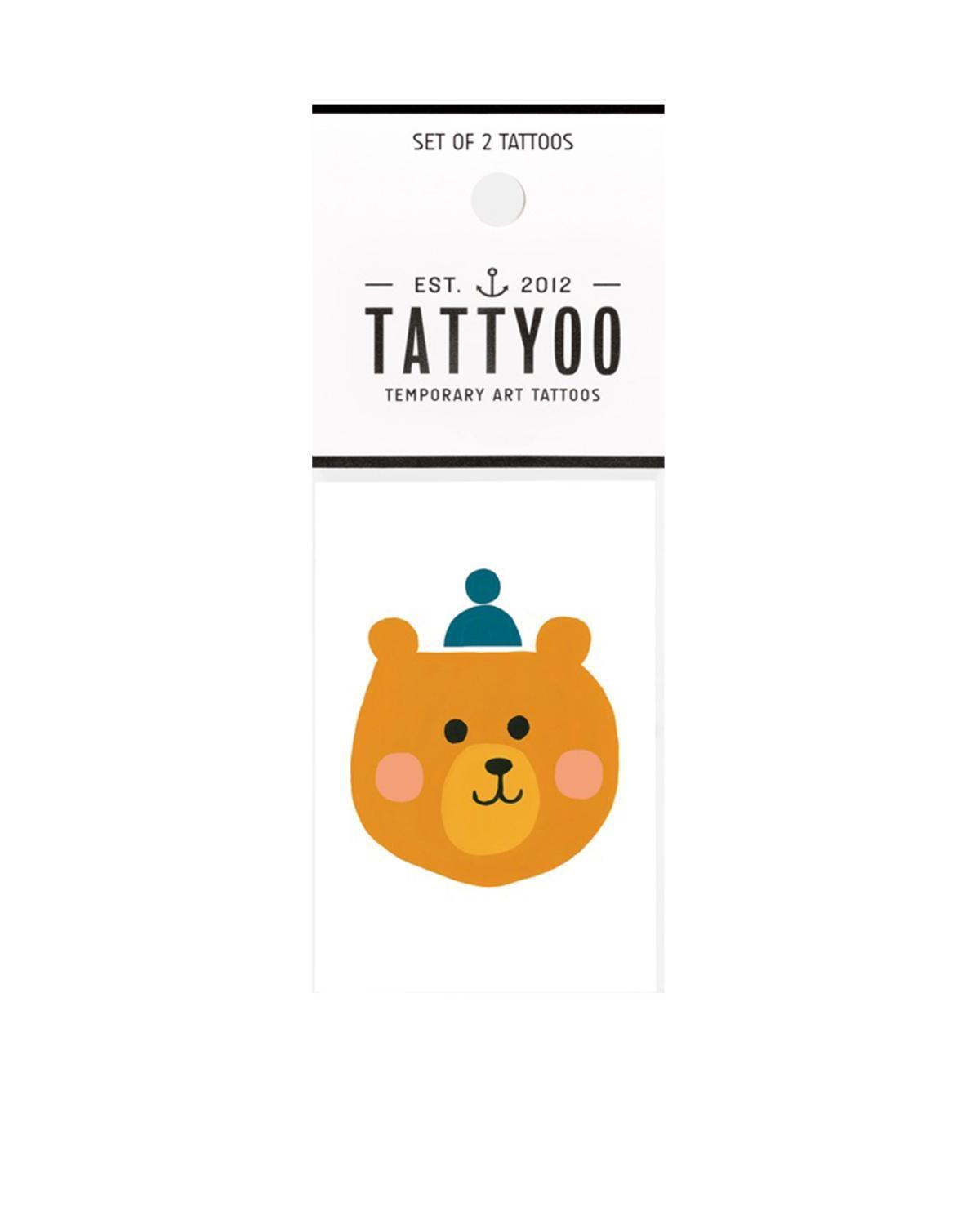 Little tattyoo paper+party bjorn the bear tattoo