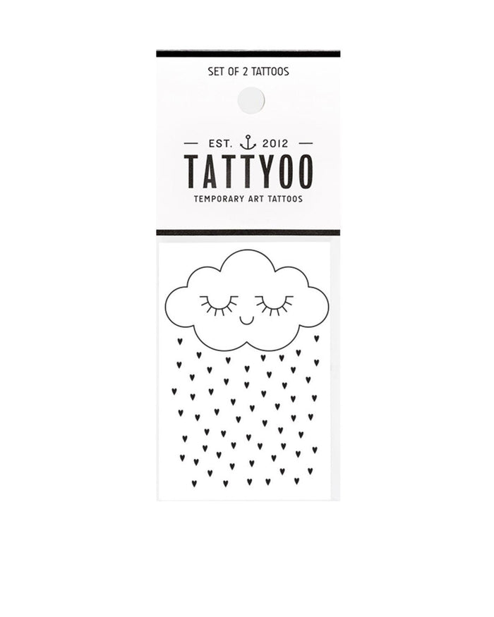 Little tattyoo paper+party tenderness cloud tattoo