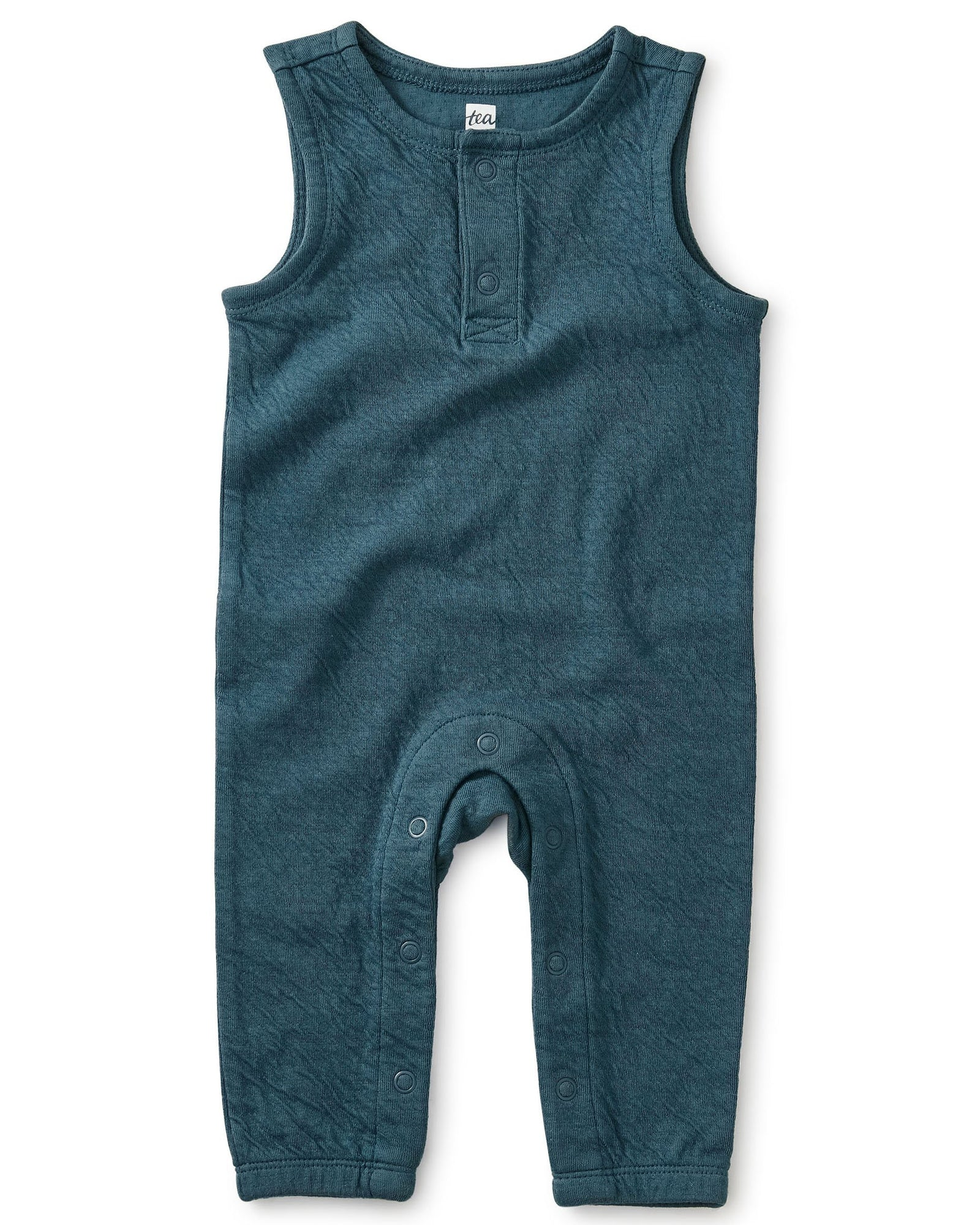 Little tea collection layette a crinkle in time teal romper