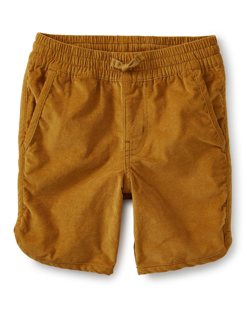 Little tea collection boy adventure corduroy short in whole wheat
