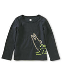 Little tea collection baby boy awesome alligator graphic tee