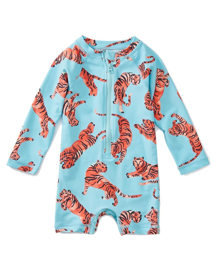 Little tea collection baby girl 12-18 baby shortie rash guard