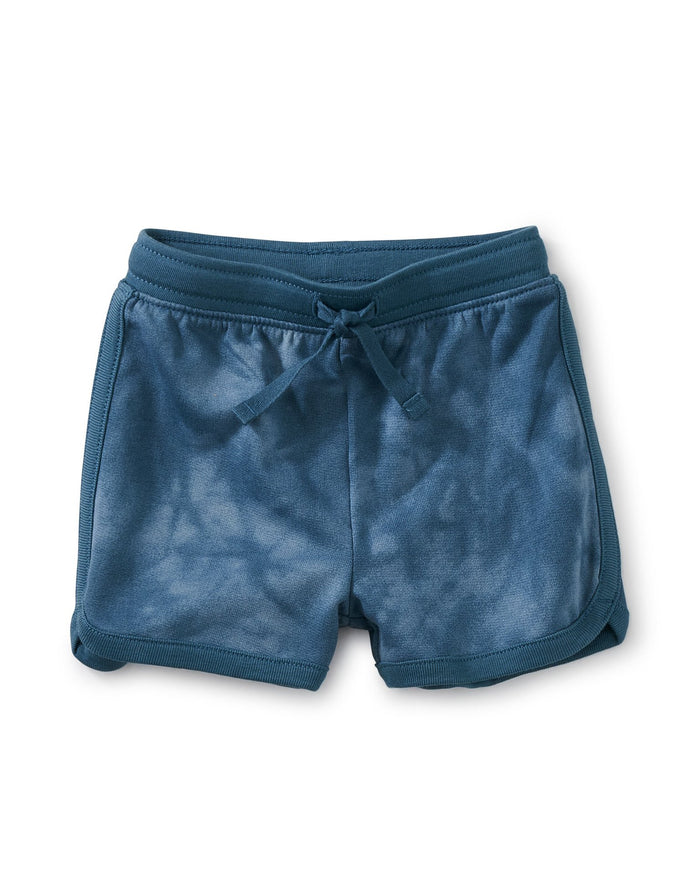 Little tea collection baby boy baby sport shorts in tie dye in steel blue