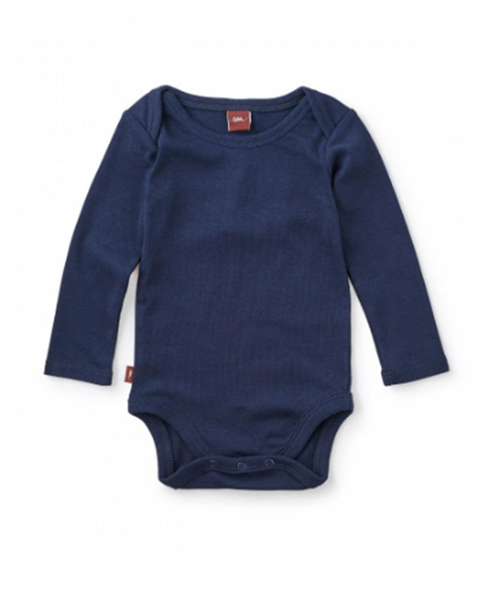 Little tea collection baby boy 3-6 Basically Baby Bodysuit in Heritage Blue