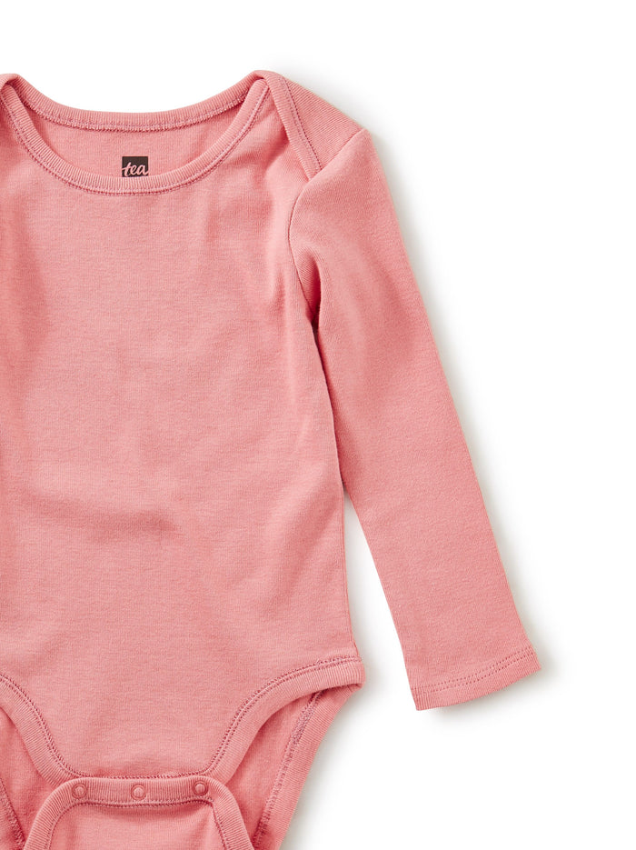 Little tea collection baby girl Basically Baby Bodysuit in Mauveglow
