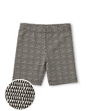 Little tea collection girl bike shorts in triangle geo
