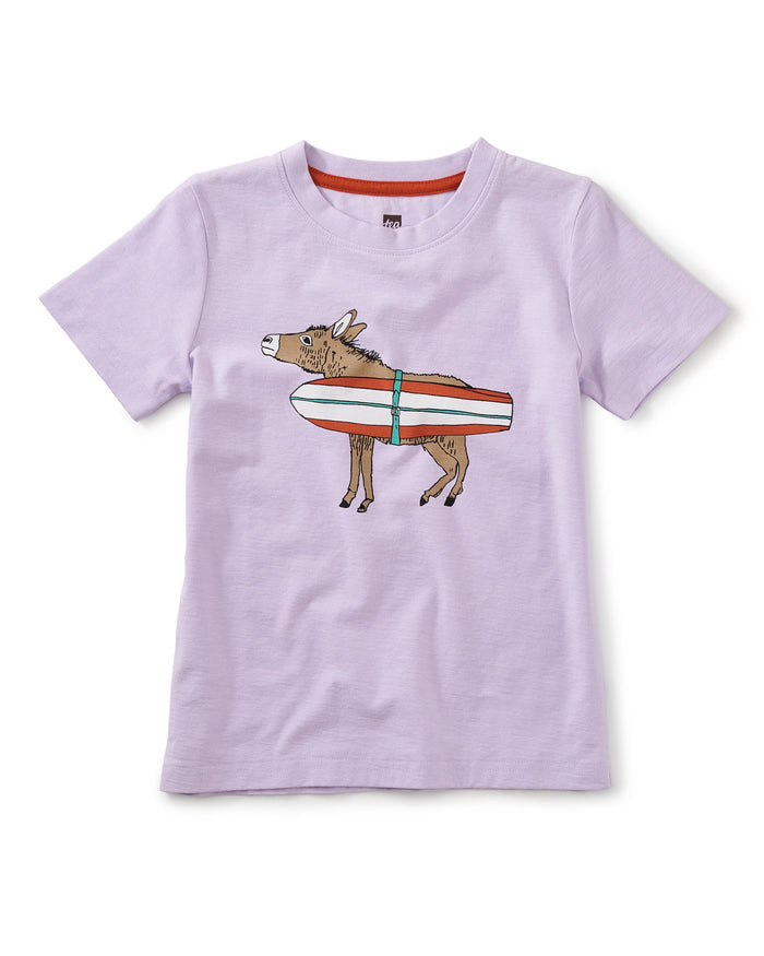 Little tea collection boy burro bonito graphic tee