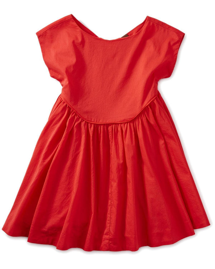 Little tea collection girl 10 button back skirted dress
