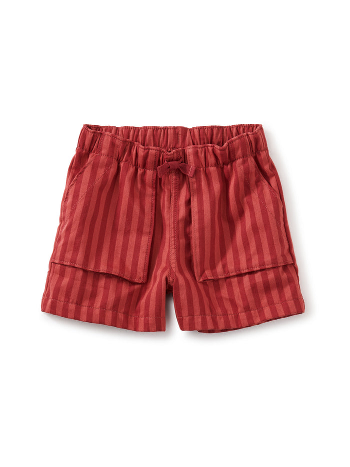 Little tea collection girl camp shorts in earth red