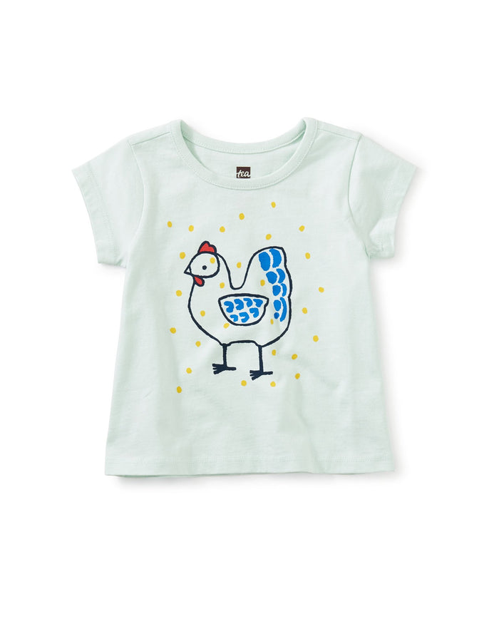Little tea collection baby girl chicken little graphic tee