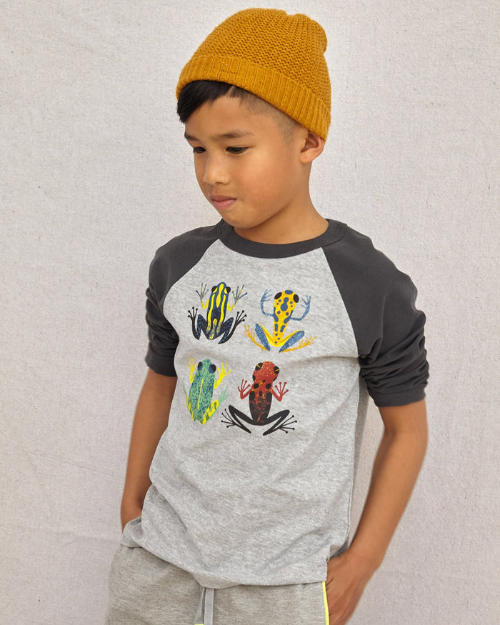 Little tea collection boy cloud forest frogs raglan