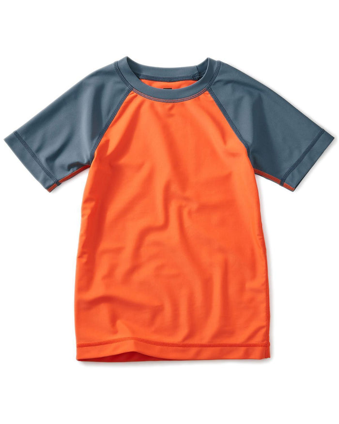 Little tea collection boy 10 colorblock short sleeve rash guard
