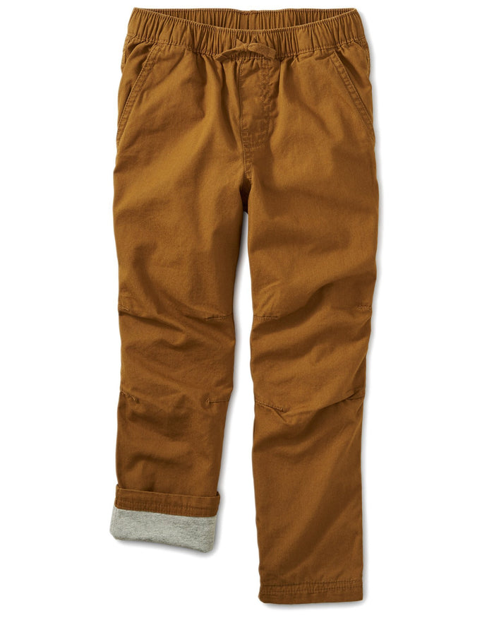 Little tea collection boy cozy jersey lined pant in bark