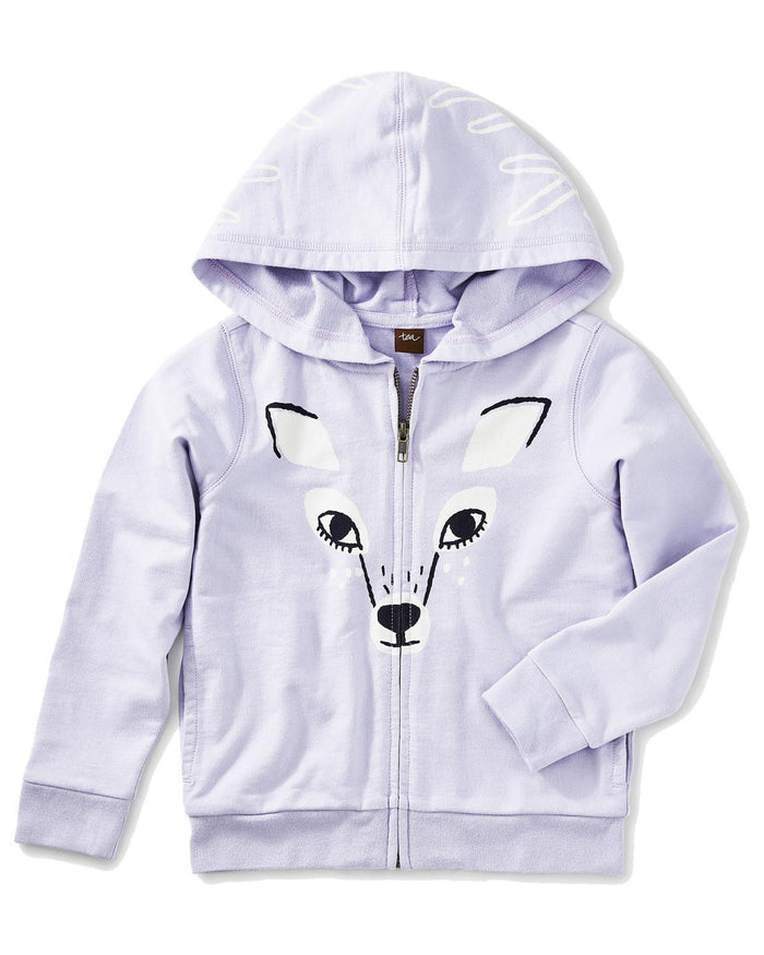 Little tea collection girl 2 deer zip hoodie