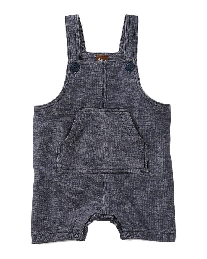 Little tea collection baby boy 0-3 denim like shortall