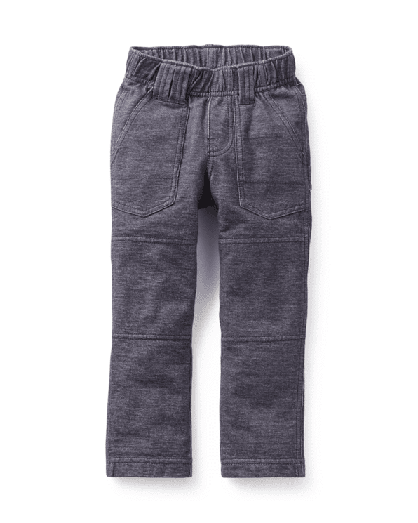 Little tea collection boy 2 Denim Playwear Pant in Indigo
