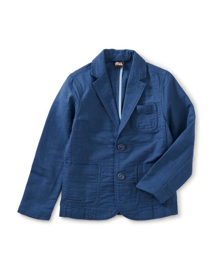 Little tea collection boy destination blazer in cobalt