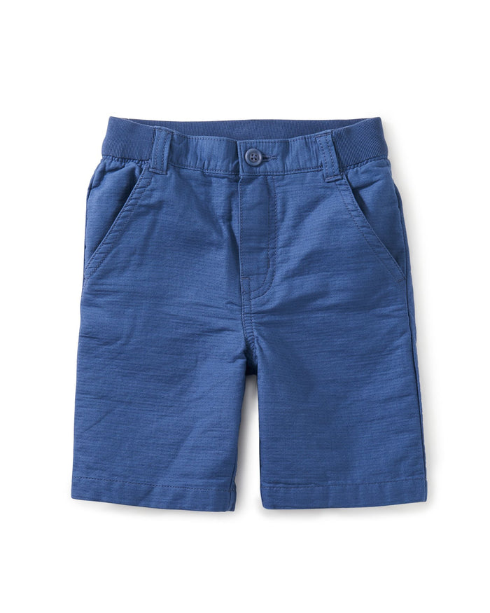 Little tea collection boy destination shorts in cobalt