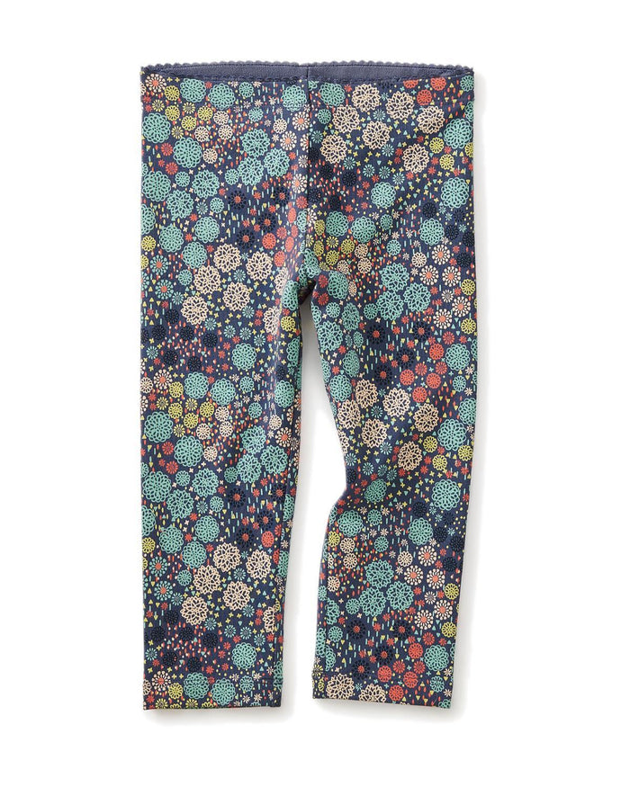 Little tea collection girl 10 ditsy floral leggings