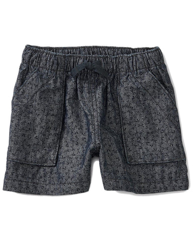 Little tea collection girl 7 dragonfly ditsy pull-on shorts in chambray
