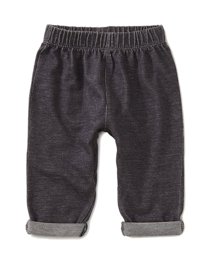 Little tea collection baby boy dropped gusset french terry pant