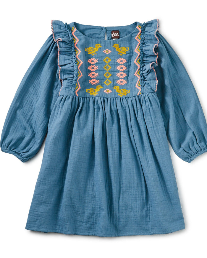 Little tea collection girl embroidered ruffle dress