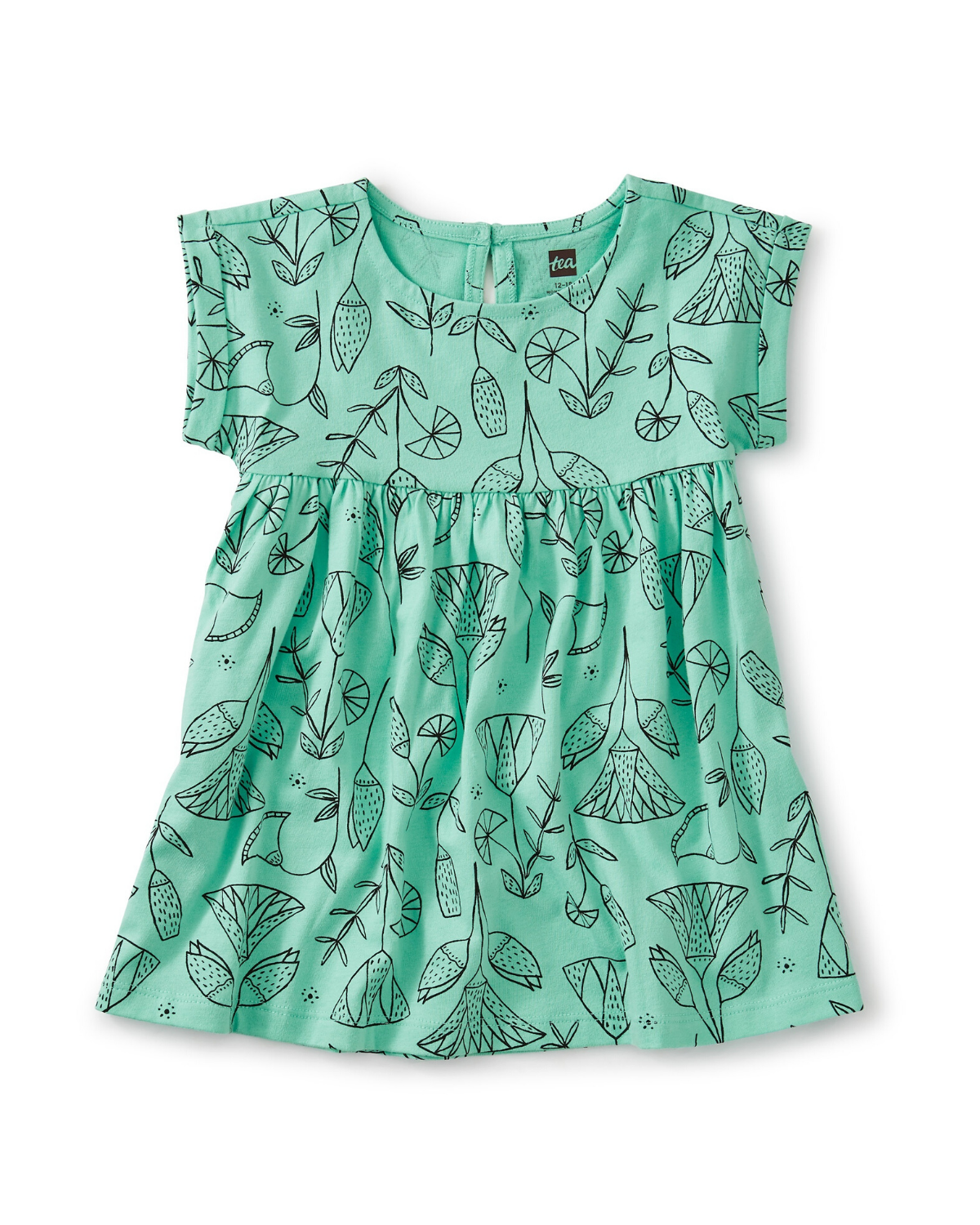 Little tea collection baby empire baby dress in pharaonic floral cascade