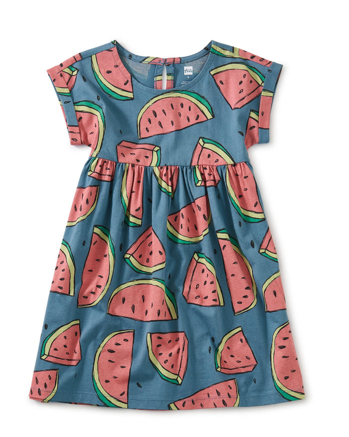 Little tea collection girl empire dress in watermelons