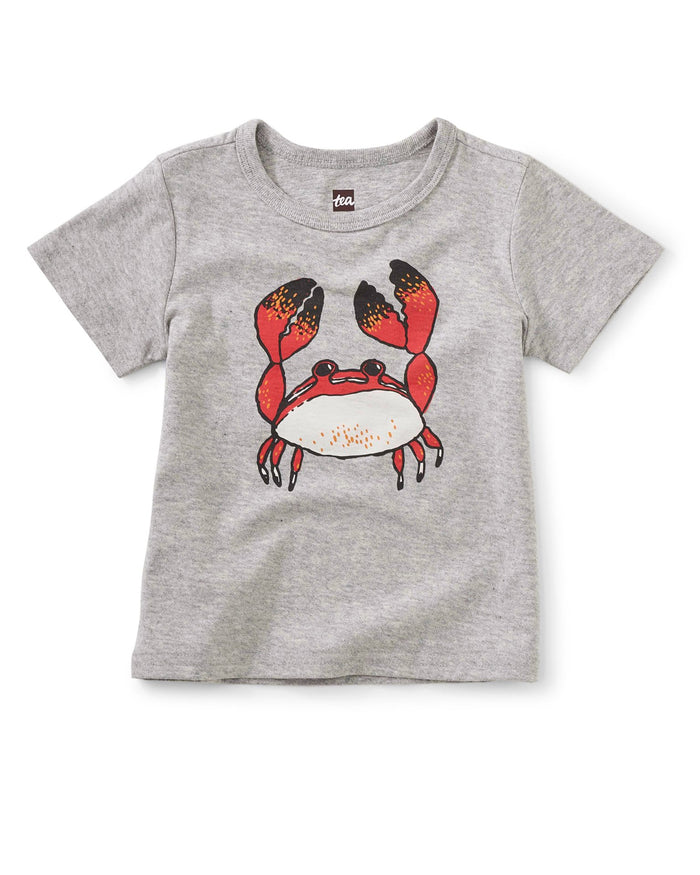 Little tea collection baby boy feeling crabby graphic tee