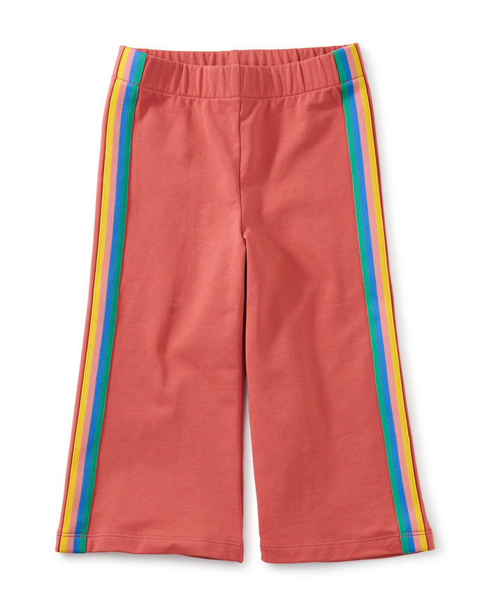 Little tea collection girl flare stretch pants in pomme