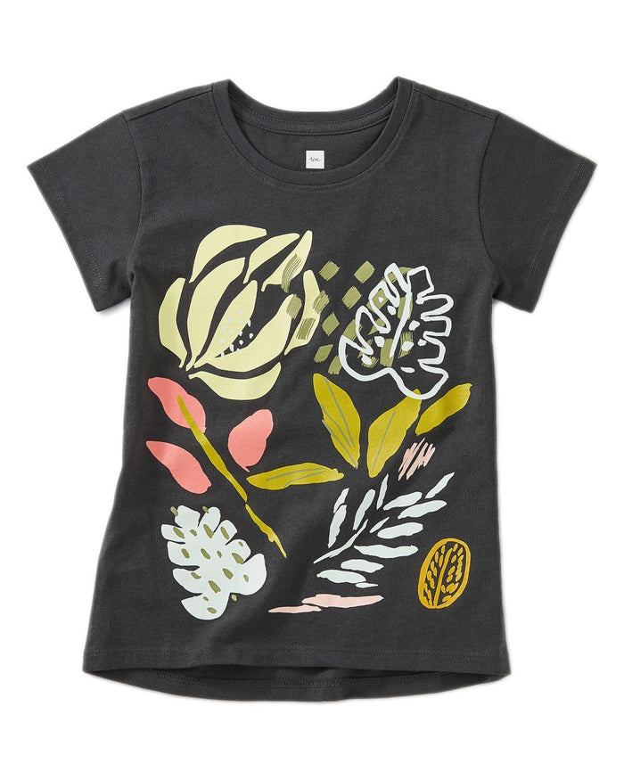 Little tea collection girl 10 flora graphic tee
