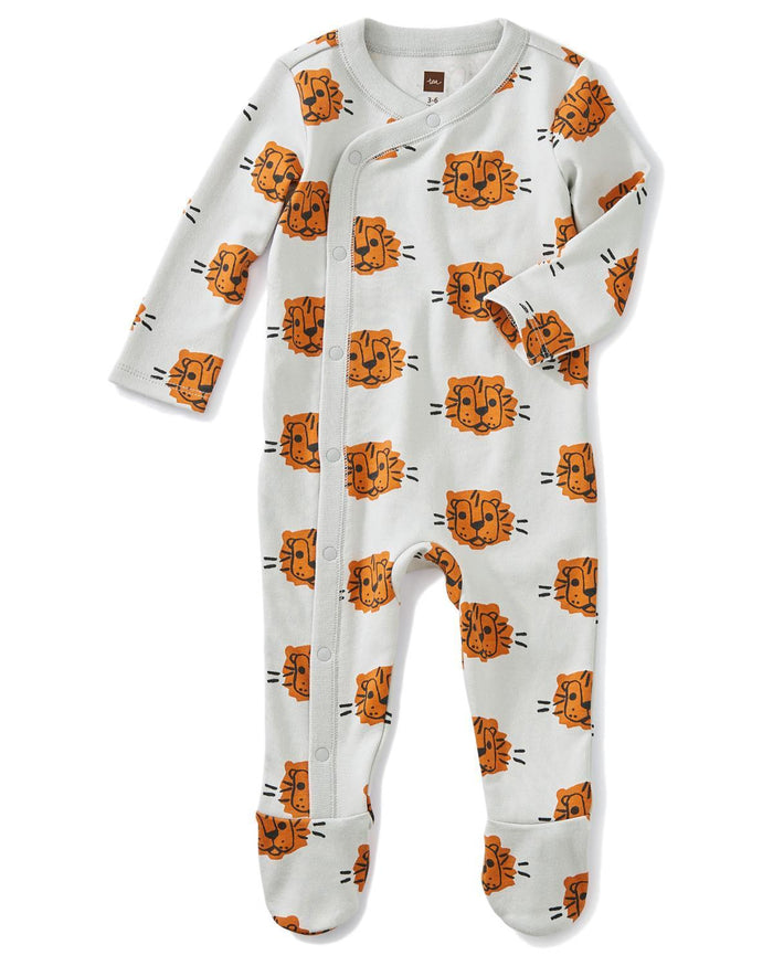 Little tea collection layette 0-3 footed romper in cuddly cubs