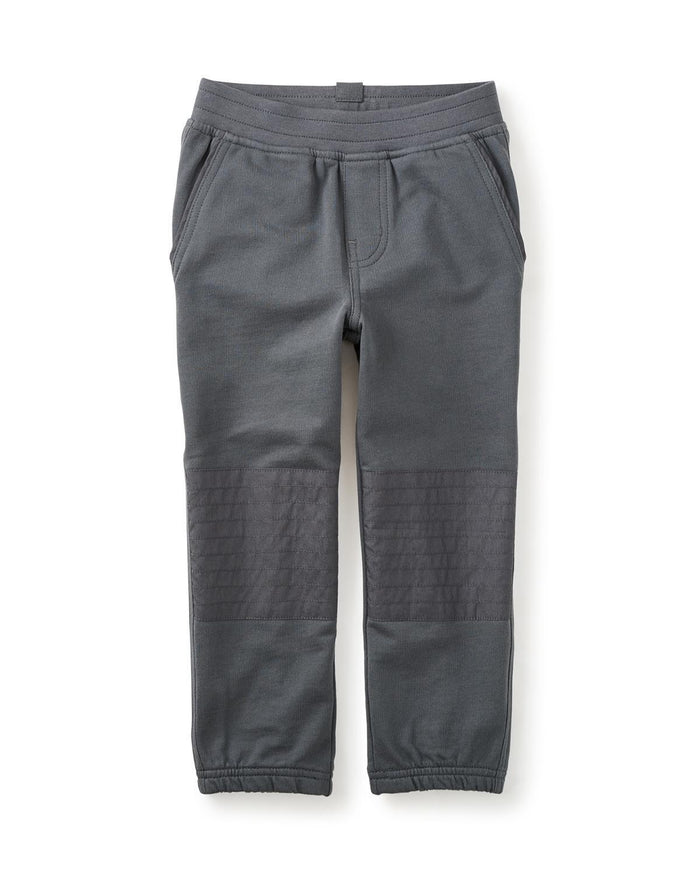Little tea collection boy 12 french terry moto pants in coal