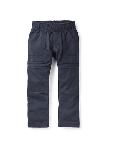 Little tea collection boy 2 French Terry Playwear Pant in Heritage Blue