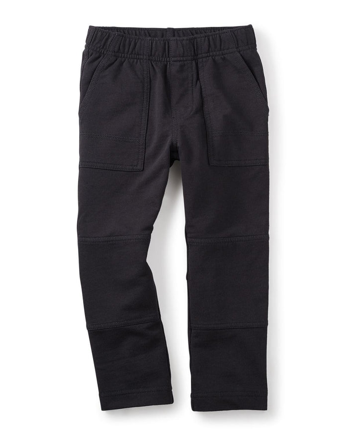 Little tea collection boy 2 french terry playwear pants in jet black