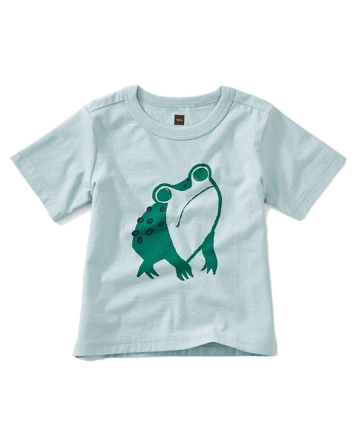 Little tea collection baby boy 12-18 frog baby graphic tee