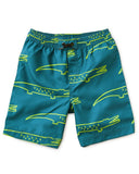 Little tea collection boy full-length swim trunk in crocodiles
