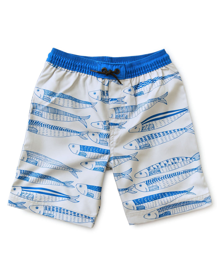 Little tea collection boy full-length swim trunk in king sardine