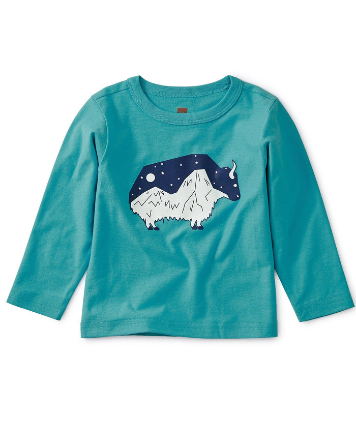 Little tea collection baby boy glow in the dark baby yak tee