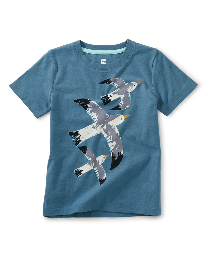 Little tea collection boy gull's travels graphic tee