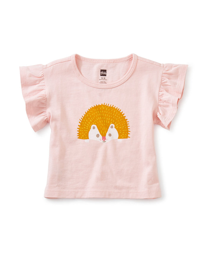 Little tea collection baby girl happy hedgehog flutter tee