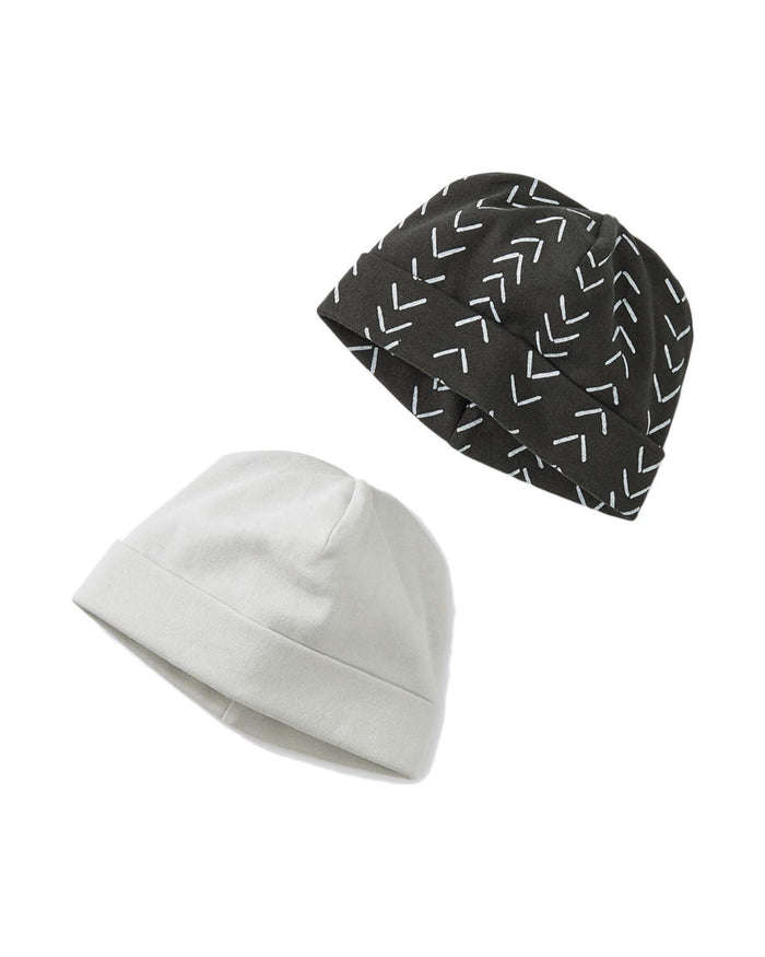 Little tea collection baby accessories 6-9 hat two-pack