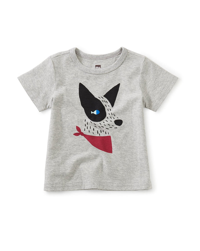 Little tea collection baby boy hot dog graphic tee