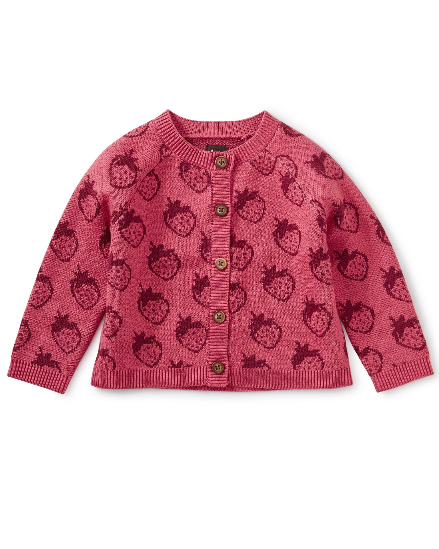 Little tea collection baby girl icon baby cardigan in fresh fresas